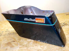 GENUINE HARLEY DAVIDSON 1980-84 VINTAGE TOURING HARD FIBERGLASS SADDLEBAG BLUE