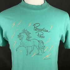 Elk Ridge Ranch VTG 80s Peruvian Peso Beefy T-Shirt Single Stitch Large USA Made