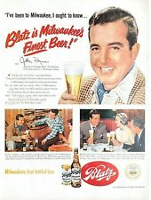 1951 Blatz Beer Vintage Print Ad Actor John Payne Milwaukee's Finest