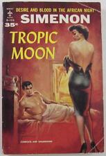 TROPIC MOON GEORGES SIMENON 1958 BERKLEY G-133 1ST ED PB GGA GOOD GIRL COVER ART