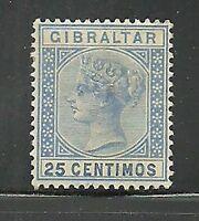 Album Treasures Gibraltar Scott # 32 25c Victoria Mint Hinged