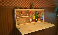 Knotty Pine Murphy Bar Man Cave Liquor Cabinet Room  Fold Up Wallmount