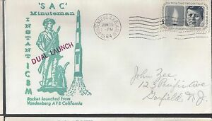 1964 Cover Dual Launch of SAC Minutemen Rockets from Vandenberg