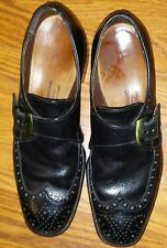 ALLEN EDMONDS Bond St. Black Leather Monk Strap Buckle Loafers Shoes 8.5 A VTG