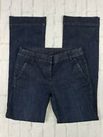J Crew Women's Size 2 Trouser Jeans City Fit Dark Wash