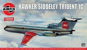"""New Airfix 1:144th Scale """"Vintage Classics"""" Hawker Siddeley Trident Model Kit."""