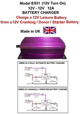 BOAT 12V to 12V BATTERY TO BATTERY CHARGER 12A 144W DC-DC, E931,13V Turn On
