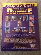 1990 WWF ROYAL RUMBLE Poster Print Ad HULK HOGAN ANDRE GIANT ULTIMATE WARRIOR