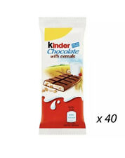 KINDER CHOCOLATE CEREALS 23.5g x 40 STOCKING FILLER BIRTHDAY LOOT BAGS £9.99