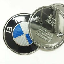 PIECE EN FIBRE DE CARBONE EMBLEME INSIGNE BMW CAPOT AVANT ARRIERE DIAMETRE 82 MM