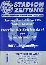 Programm 1997/98 Hertha 03 Zehlendorf - Spandauer SV