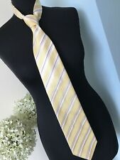 Marks & Spencer Tie Yellow & Blue Stripe Excellent Condition
