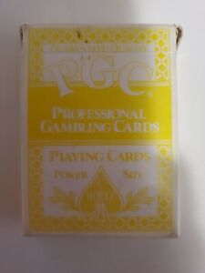 Jerry's Nugget Playing Cards PGC Professional Gambling Size Poker Size Yellow