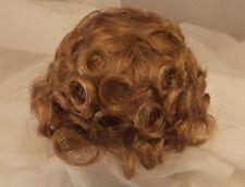 "Sz 7/8"" Curly Top Strawberry Doll Wig Baby Reborn Ooak Bjd Repair Francis"