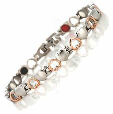 LADIES STRONG MAGNETIC THERAPY BRACELET 4 IN 1 BIO HEALING ARTHRITIS PAIN 012