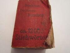 VINTAGE MINIATURE MIDGET LILLIPUT BOOK DICTIONARY GERMAN-RUSSIAN 12000