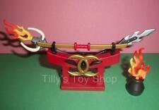 Playmobil Castle -  Asian, Samurai, Oriental Armour Stand + Fire Pot - NEW