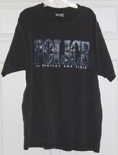 "Vintage 90's 1998 Police ""To Protect and Serve"" Shirt Size XL Cops DARE FPD"