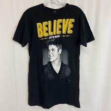 Justin Bieber 2013 Believe Concert Tour T-Shirt Black size M