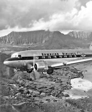 Hawaiian airlines collectibles ebay hawaiian airlines douglas dc 3 85x11 print sciox Image collections
