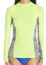 NEW Women's RIP CURL TRESTLES Long Sleeve UV Surf RASHGUARD - Lime Green - S