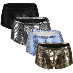Mens Embossed Metallic Snake Skin Animal Print Boxer Trunks Underwear UK POST