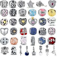 Authentic 925 Sterling Silver Best Sellers Love Charms fit Euro Charm Bracelet