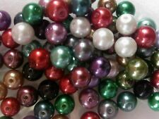 200 Glass Pearl Round Beads Assorted MIX 6mm -  Good Mix