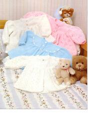 "Lovely 4ply/DK  baby girls jackets Knitting pattern- chest 14-18"" nice pattern"