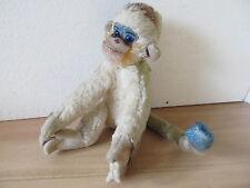 MES-35946 Älterer Steiff Affe ohne Knopf,Schild + Fahne H:ca.20cm,