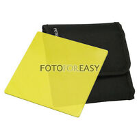 "FOTGA 4 X4"" 100mm Square Yellow Color filter for Matte box Cokin Z Lee holder"
