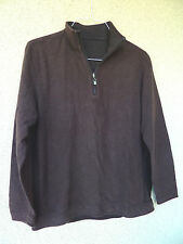 Tommy Bahama Denim Brown Pull Over Terry Type Knit Sweat Shirt  Zip at CF Neck
