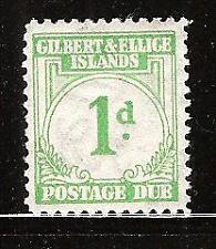 GILBERT & ELLICE ISLANDS # J1 MLH  POSTAGE DUE   ( 2 )