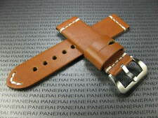 BIG BELT 24mm Hand Made LEATHER STRAP Brown Band with White Stitch SUUNTO CORE
