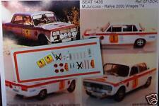 "DECAL CALCA 1/43 SEAT 1430 ""PREP JUNCOSA"" M. JUNCOSA RALLY 2000 VIRAJES 1974"