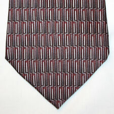 NEW Puritan Silk Neck Tie Burgundy with Blue Gray and White Pattern 1270