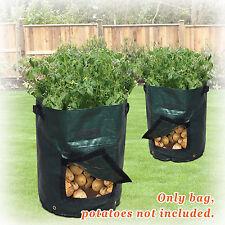 3-Pack Potato Grow Planter PE Bag Vegetables Garden w/Access Flap for Harvesting