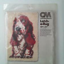 "New listing Vtg Columbia Minerva Latch A Rug Pattern 20""x31"" Hush Puppies Basset Hound 3572"