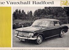 VAUXHALL reperti Radford PB Saloon 1963-64 UK Opuscolo Vendite sul Mercato PIEGA