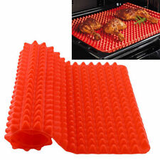 Pyramid Silicone Oven Baking Tray Sheets Mat Pan Non Stick Fat Reducing Cooking