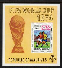 Maldive Islands 1974 FIFA World Cup Minisheet - SG MS521 - UM