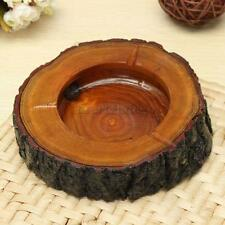 9-10cm Round Wooden Wood Cigarette Smoking Ashtray Ash Tray Bin Cafe Table HQ