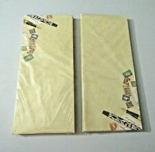 C.R. Gibson Creative Papers Retro Antiqued Fountain Pens & Post Cards Envelopes
