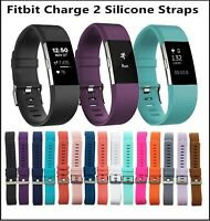 For Fitbit Charge 2 Replacement Sports Band Strap Silicone Wrist Watch Bands