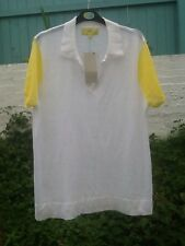 NEXT White/Yellow Short Sleeve Jumper Top Size 20 BNWT