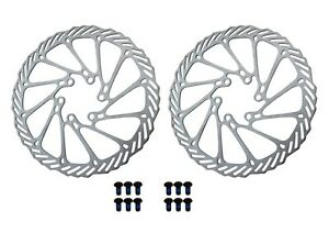 2 x 160mm G3 Brake Rotor Disc 6 Holes & 6 Bolts Included MTB Road Bikes