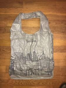 Nordstrom Folding Silver Zip Around Tote Bag