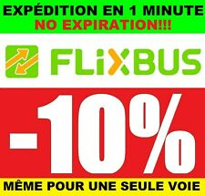 2x1 COUPON 10% FLIXBUS NO EXPIRATION EXPÉDITION IMMÉDIATE VOUCHER CODE RÉDUCTION