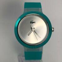 Lacoste Unisex LC.46.4..47.2423 Aqua Blue Silicone Band Analog Quartz Wristwatch