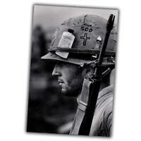 Vietnam War Photo memory of the Vietnam war soldier in a helmet size 4x6 N